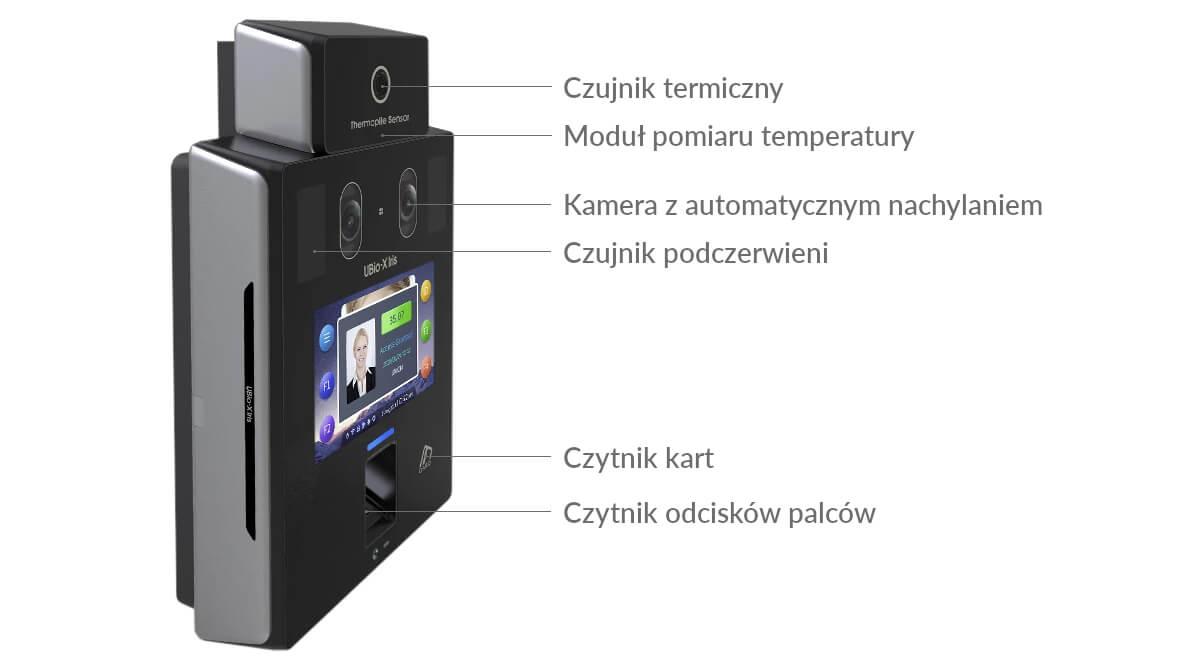 UBio-X Iris - terminal z modułem do pomiary temperatury ciała